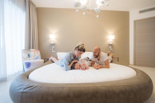 Rodina v ubytování Bibione Palace Spa Hotel