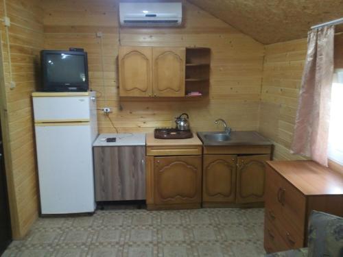 Кухня или мини-кухня в Holiday Park Kolobok