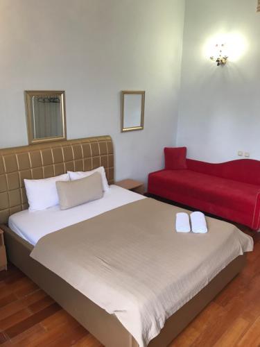 Кровать или кровати в номере Guest House Expo na Kutuzovskom
