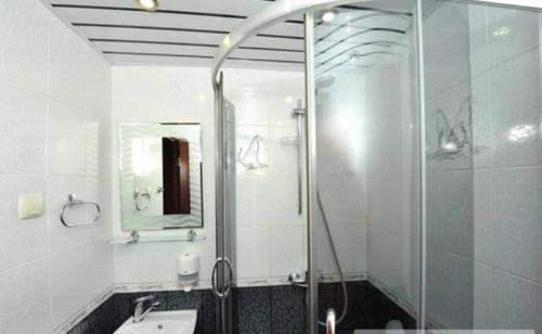 Ванная комната в Отель Каштан