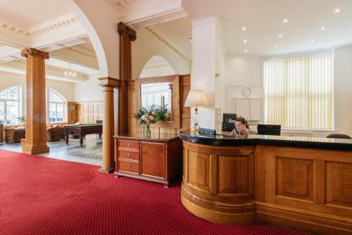 The lobby or reception area at The Headland Hotel & Spa