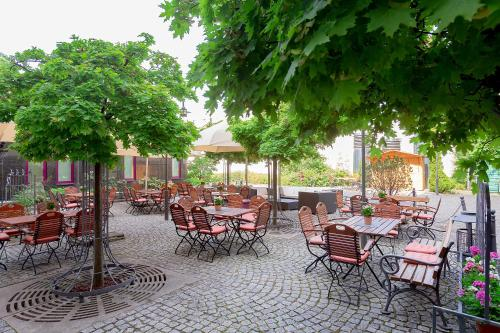 A restaurant or other place to eat at Dorint Hotel Leipzig