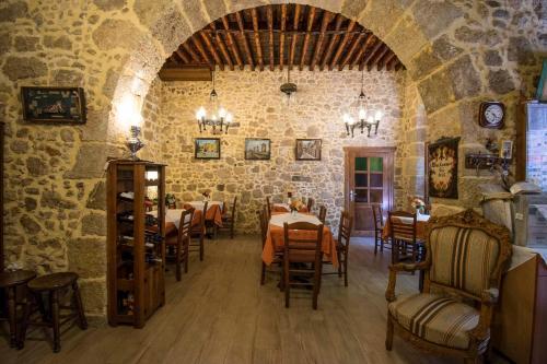 En restaurang eller annat matställe på D'Argento Boutique Rooms