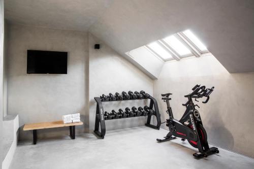 Gimnasio o instalaciones de fitness de Hotel Urban