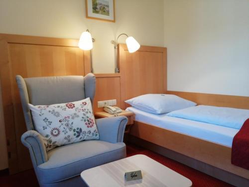 Ein Bett oder Betten in einem Zimmer der Unterkunft Pension Katrin