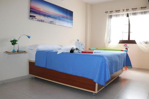 Cama o camas de una habitación en Casa Yoel