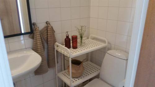 A bathroom at Stationsterrassen 7 Rum 706