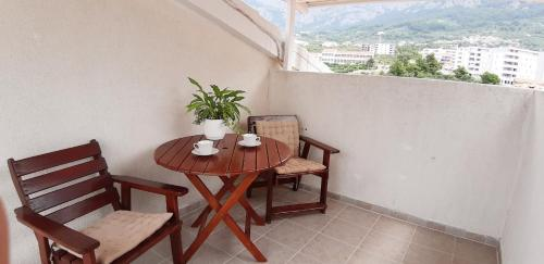 A balcony or terrace at Apartments Anica