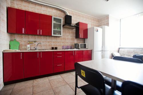 Кухня або міні-кухня у Хостел Freedom