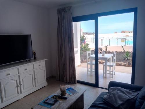 A seating area at Apartamento SUN Relax en Fuerteventura