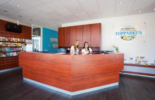 The lobby or reception area at WH Comfort 3 personen