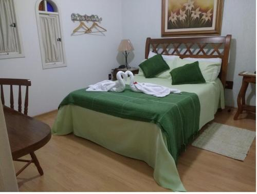 Cama ou camas em um quarto em Stohler Haus