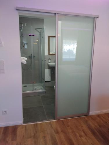 A bathroom at Hotel am Stadion