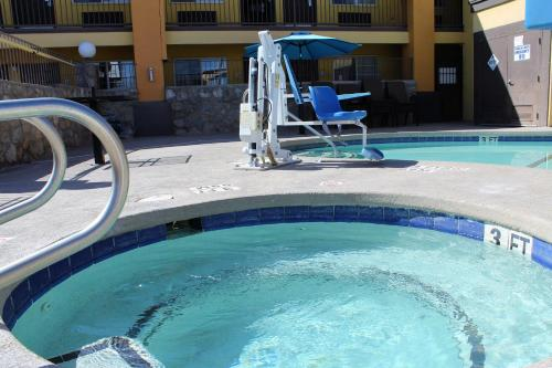 The swimming pool at or near Desert Inn