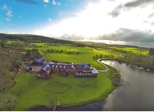 A bird's-eye view of The Lodge on the Loch