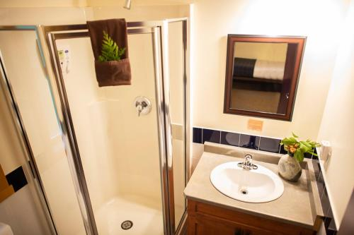 A bathroom at Ecolodge - Tofino