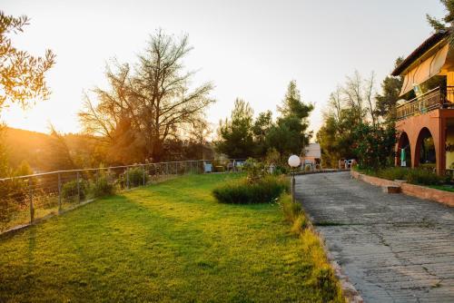 Κήπος έξω από το Villa Panorama Studios