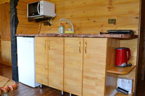 Кухня или мини-кухня в База Отдыха Красные Ворота