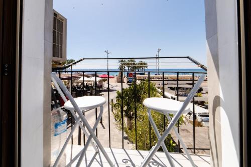 A balcony or terrace at Seanema Studio Beach Park