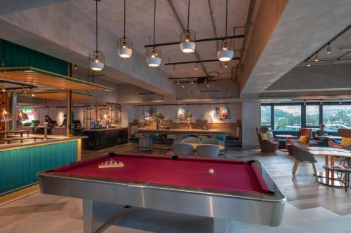 A billiards table at Ovolo Southside