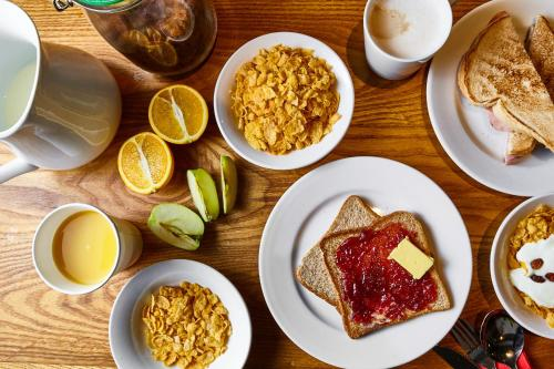 Breakfast options available to guests at St Christopher's Inn Village - London Bridge