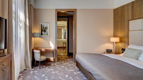 Cama o camas de una habitación en Palais Hansen Kempinski Vienna