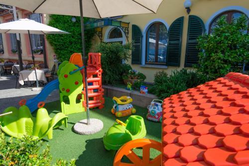 Children's play area at Albergo Pesce D'oro