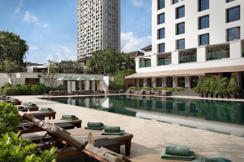 The swimming pool at or near The Sukhothai Bangkok