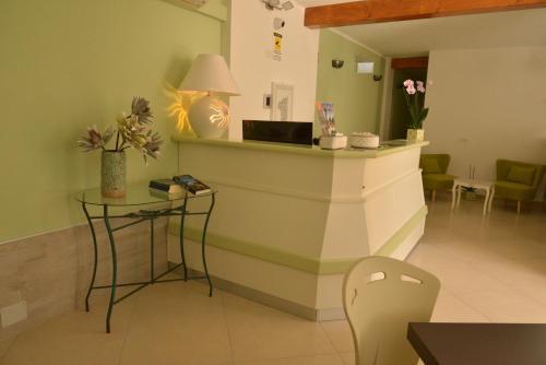 The lobby or reception area at Residenza Al Castello