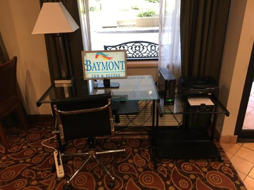 A television and/or entertainment center at Baymont by Wyndham St. Joseph/Stevensville