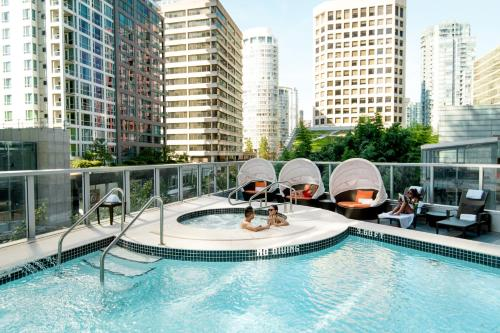 The swimming pool at or near Shangri-La Hotel Vancouver