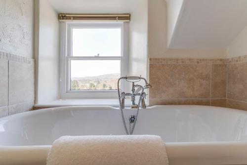A bathroom at Barnes Fell Apartments