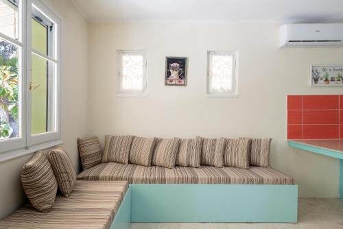 A seating area at Eftihias house