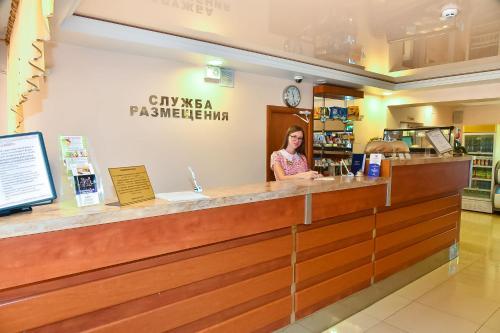 Лобби или стойка регистрации в Пансионат с лечением Фламинго