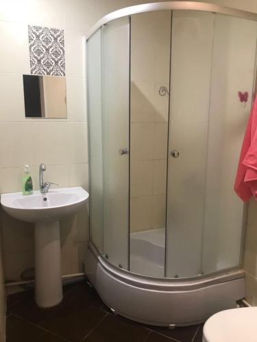 A bathroom at Comfort apartment in Novosibirsk center