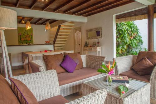 A seating area at United Colors of Bali