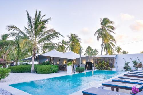 The swimming pool at or near Indigo Beach Zanzibar