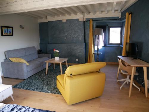 A seating area at La Maison Forte