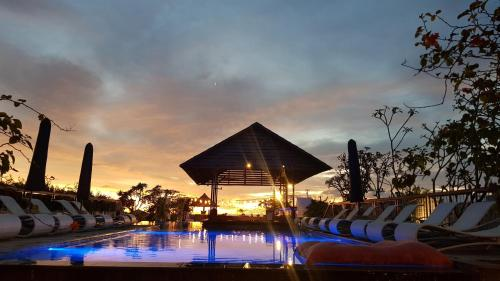 The swimming pool at or close to The Akmani Legian