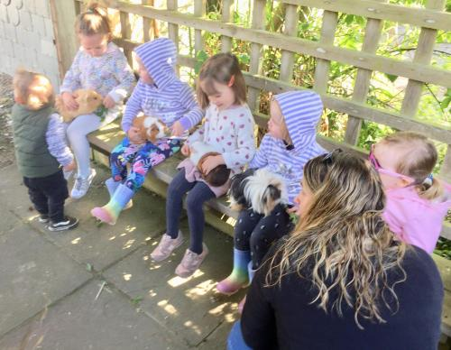 Children staying at Polean Farm Cottages