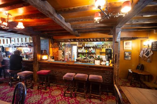 The lounge or bar area at The Withies Inn