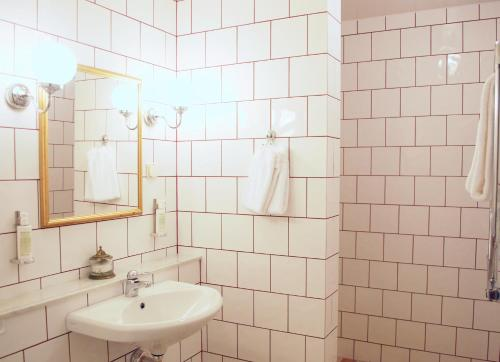 Ett badrum på Häringe Slott