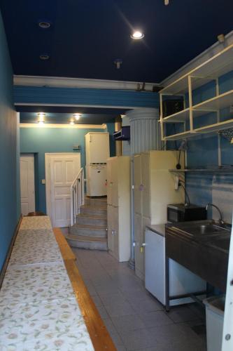 A kitchen or kitchenette at Sashalom Hotel
