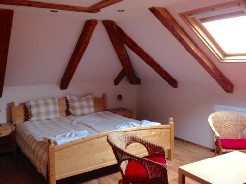 Postel nebo postele na pokoji v ubytování Hotel St. Anna