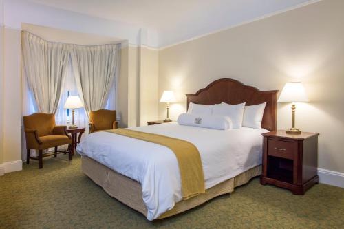 Säng eller sängar i ett rum på Beresford Arms