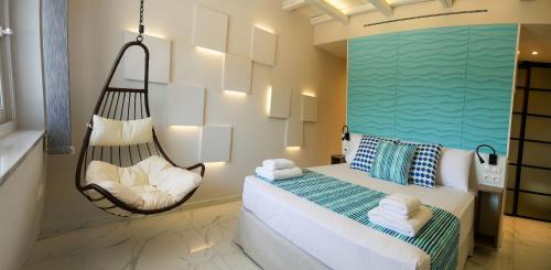 Ένα ή περισσότερα κρεβάτια σε δωμάτιο στο Kotroni Villas