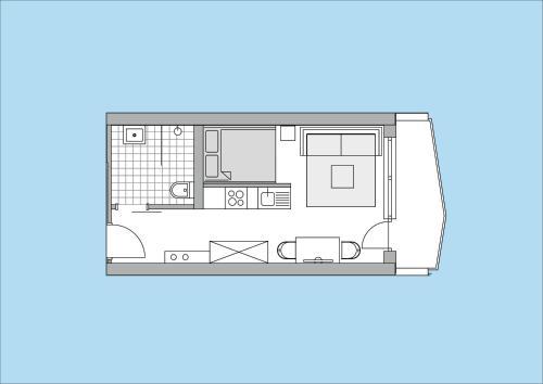 The floor plan of Herzblut Wohlfühl Appartements