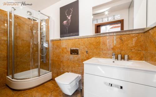 Łazienka w obiekcie Apartamenty Wonder Home - przy Zacisznej