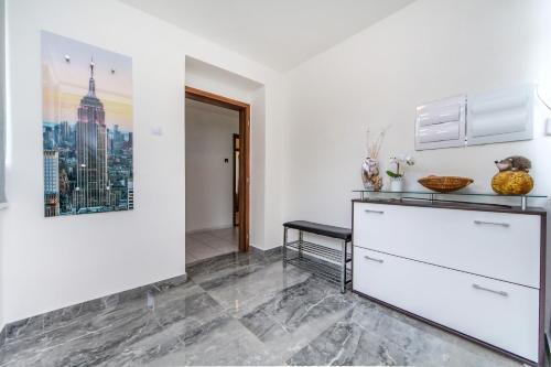 A kitchen or kitchenette at Pension Milada