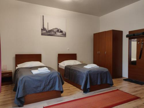 Posteľ alebo postele v izbe v ubytovaní Penzión SESSLER ***